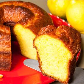 Bolo fofinho de limão siciliano