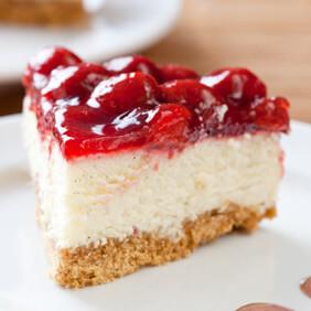 Cheesecake de ricota com iogurte e goiaba